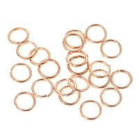 100 Rose Gold Jump Rings 7 mm